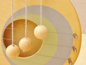 Detail ronde deurharp