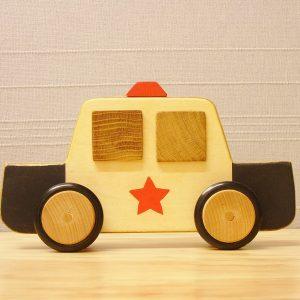 Houten politiewagen 1